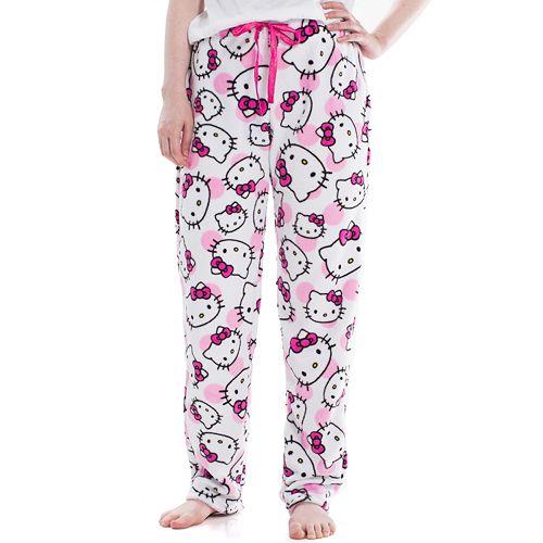 Juniors' Hello Kitty Plush Pajama Pants