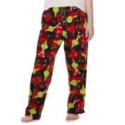 Plus Size Grinch Plush Pajama Pants