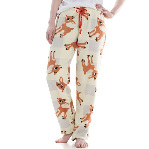 Juniors' Rudolph Plush Pajama Pants