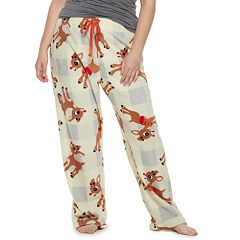 Plus Size Rudolph Plush Pajama Pants