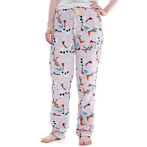 Juniors' Frozen Olaf Plush Pajama Pants