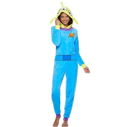 Juniors' Toy Story Alien One-Piece Pajamas