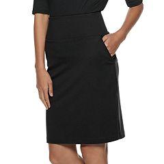 Women's Apt. 9® Tummy Control Ponte Pencil Skirt