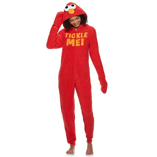 Juniors' Elmo One-Piece Pajamas