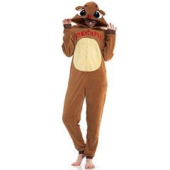 Juniors' Rudolph One-Piece Pajamas
