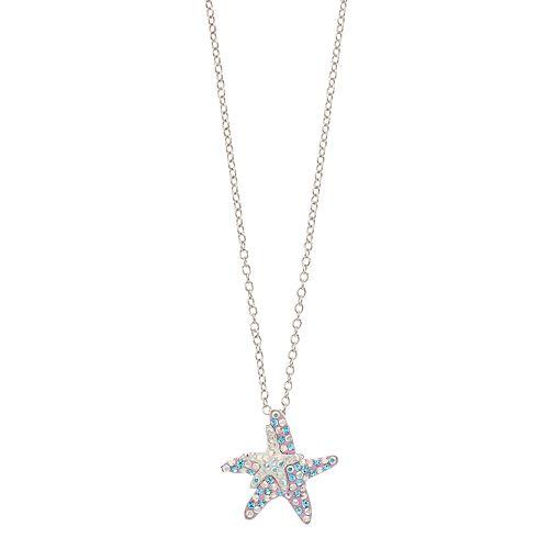 Silver Tone Starfish Pendant Necklace