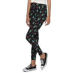 Juniors' Pink Republic Peached Midrise Christmas Leggings