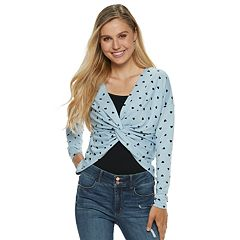 Juniors' Candie's® Printed Twist Reversible Top