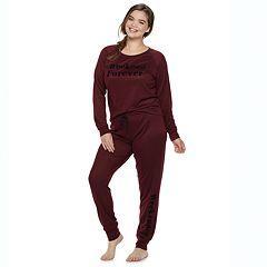 Plus Size Sleep Riot Holiday Graphic Tee & Joggers Pajama Set