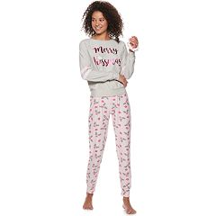 Juniors' Sleep Riot Graphic 3-piece Tee, Joggers & Scrunchie Pajama Set