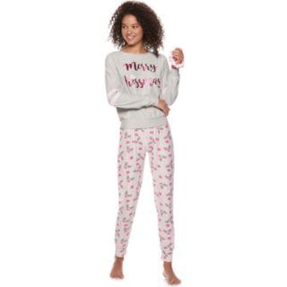 Juniors' Sleep Riot Graphic 3-piece Tee, Joggers & Scrunchie Pajama Set