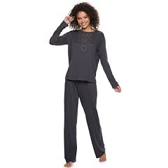 Juniors' SO® Graphic Dolman Tee & Pants Pajama Set