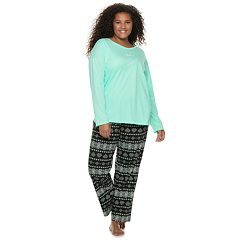 Plus Size SO® Graphic Dolman Tee & Pants Pajama Set