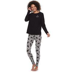 Juniors' SO® Tee & Thermal Leggings Pajama Set
