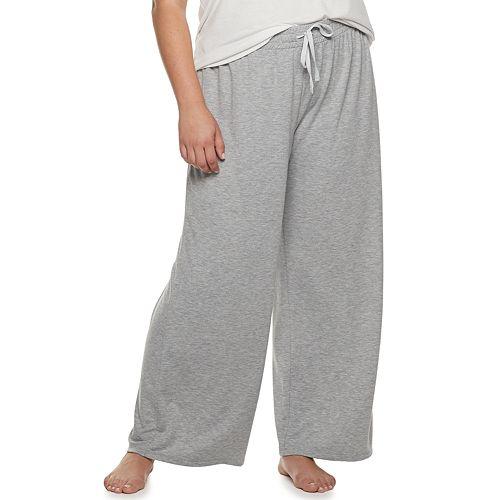 Plus Size SONOMA Goods for Life™ Wide-Leg Pajama Pants