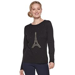 Women's ELLE™ Embellished Novelty Sweater
