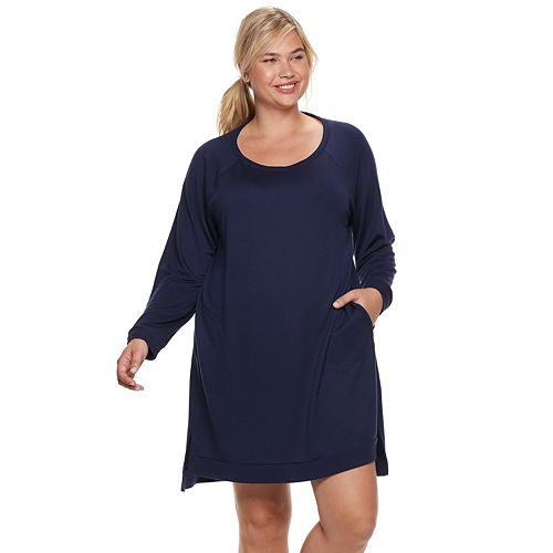 Plus Size SONOMA Goods for Life™ Split Hem Sleepshirt