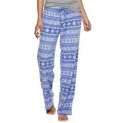 Women's SONOMA Goods for Life™ Printed Fleece Pajama Pants