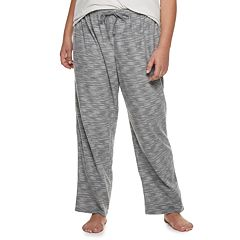 Plus Size SONOMA Goods for Life™ Printed Fleece Pajama Pants