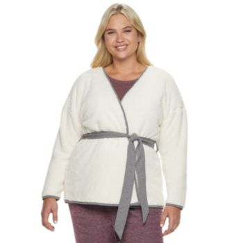 Plus Size SONOMA Goods for Life? Sherpa Bed Jacket