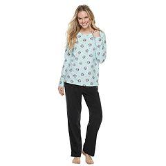Women's SONOMA Goods for Life™ Fleece Top & Pants Pajama Set