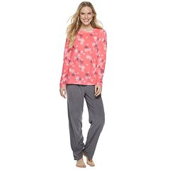Women's SONOMA Goods for Life™ Fleece Top & Pants Pajama Set