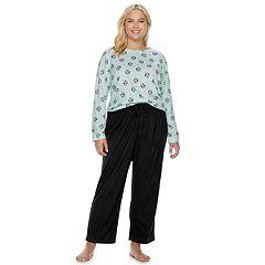 Plus Size SONOMA Goods for Life™ Fleece Top & Pants Pajama Set