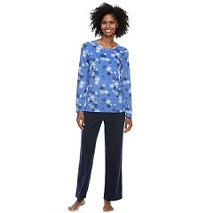 Plus Size SONOMA Goods for Life™ Fleece Top & Pants Pajama Set
