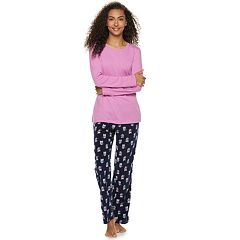 Women's SONOMA Goods for Life™ Tee & Printed Fleece Pants Pajama Set