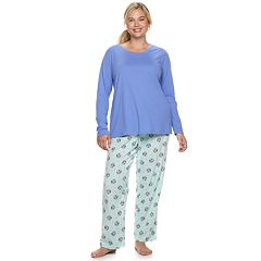 Plus Size SONOMA Goods for Life™ Tee & Printed Fleece Pants Pajama Set
