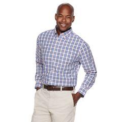 Men's Croft & Barrow® Classic-Fit Patterned No-Iron Button-Down Shirt