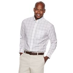Men's Croft & Barrow® Classic-Fit Patterned No-Iron Button-Down Shirt