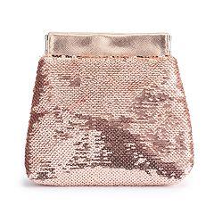 LC Lauren Conrad Sequin Coin Pouch