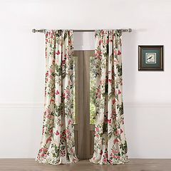 Greenland Home Butterflies Window Curtain Set