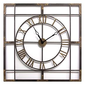 Stratton Home Decor Industrial Wall Clock