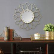 Stratton Home Decor Lauren Floral Wall Mirror