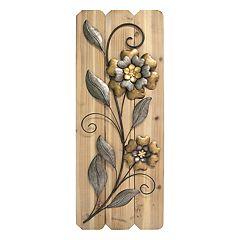 Stratton Home Decor Metal Flower Panel Wall Decor
