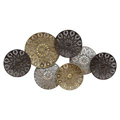 Stratton Home Decor Boho Metal Plates Wall Decor