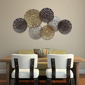 Stratton Home Decor Boho Metal Plates Wall Decor