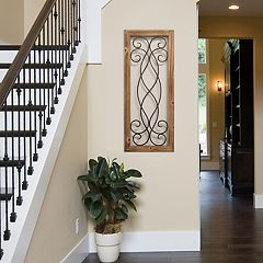 Stratton Home Decor Scroll Panel Wall Decor