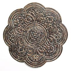 Stratton Home Decor Bronze Finish Medallion Wall Decor