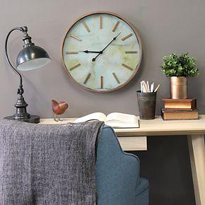 Stratton Home Decor Copper Finish Wall Clock