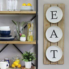 "Stratton Home Decor ""Eat"" Farmhouse Wall Decor"
