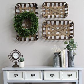 Stratton Home Decor Set Decorative Basket Wall Decor 3-piece Set