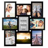 MALDEN 9-opening Black Collage Frame
