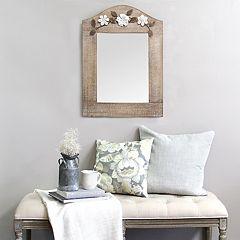 Stratton Home Decor Floral Wall Mirror