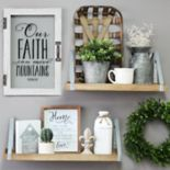 "Stratton Home Decor ""Faith"" Glass Door Wall Decor"