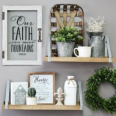 Stratton Home Decor 'Faith' Glass Door Wall Decor