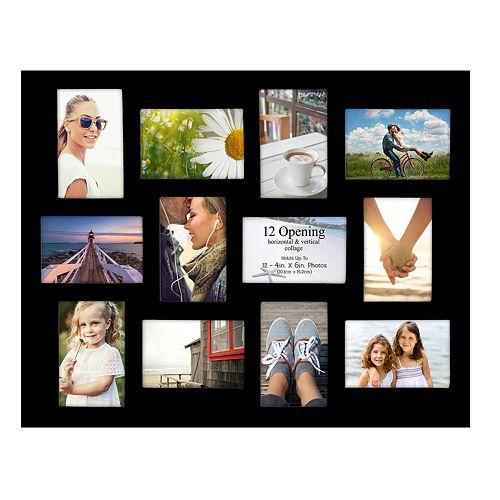 Malden 12-opening Black Wall Collage Frame