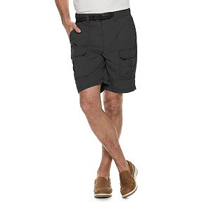 Men's Croft & Barrow® Classic-Fit Outdoor Belted Ripstop Cargo Shorts